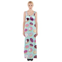 Donut Jelly Bread Sweet Maxi Thigh Split Dress by Mariart