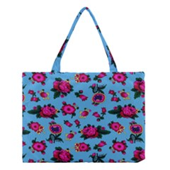 Crown Red Flower Floral Calm Rose Sunflower Medium Tote Bag by Mariart
