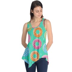 Doughnut Bread Donuts Green Sleeveless Tunic