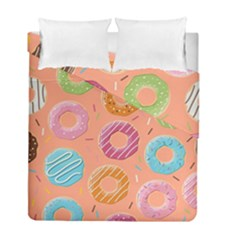 Doughnut Bread Donuts Orange Duvet Cover Double Side (full/ Double Size) by Mariart