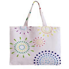 Fireworks Illustrations Fire Partty Polka Zipper Mini Tote Bag by Mariart