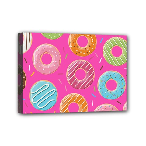 Doughnut Bread Donuts Pink Mini Canvas 7  X 5  by Mariart