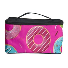 Doughnut Bread Donuts Pink Cosmetic Storage Case by Mariart