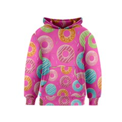 Doughnut Bread Donuts Pink Kids  Pullover Hoodie by Mariart