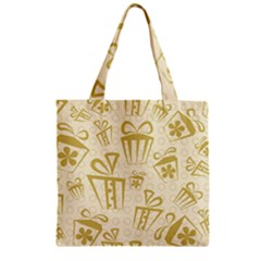Gift Party Polka Grey Zipper Grocery Tote Bag by Mariart