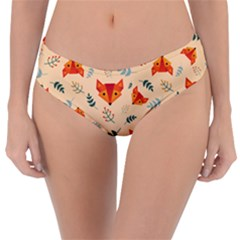 Foxes Animals Face Orange Reversible Classic Bikini Bottoms