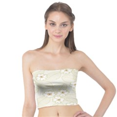 Flower Floral Leaf Tube Top by Mariart