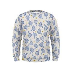 Glass Polka Circle Blue Kids  Sweatshirt by Mariart
