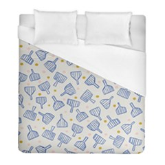 Glass Polka Circle Blue Duvet Cover (full/ Double Size) by Mariart