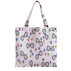 Glasses Bear Cute Doll Animals Zipper Grocery Tote Bag by Mariart