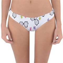 Glasses Bear Cute Doll Animals Reversible Hipster Bikini Bottoms by Mariart