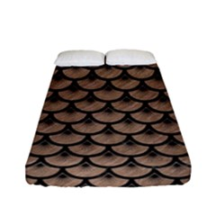 Scales3 Black Marble & Brown Colored Pencil (r) Fitted Sheet (full/ Double Size) by trendistuff