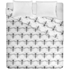 Bee Wasp Sting Duvet Cover Double Side (california King Size) by Mariart