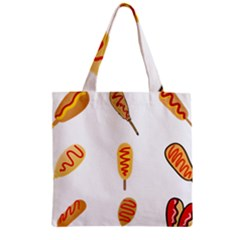 Hot Dog Buns Sate Sauce Bread Zipper Grocery Tote Bag by Mariart
