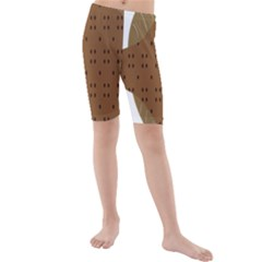 Illustrain Animals Reef Fish Sea Beach Water Seaword Brown Polka Kids  Mid Length Swim Shorts by Mariart