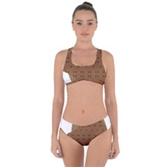 Illustrain Animals Reef Fish Sea Beach Water Seaword Brown Polka Criss Cross Bikini Set by Mariart