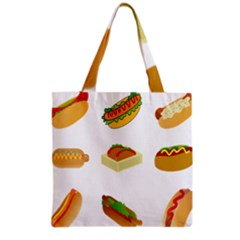 Hot Dog Buns Sauce Bread Grocery Tote Bag by Mariart