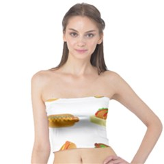 Hot Dog Buns Sauce Bread Tube Top by Mariart