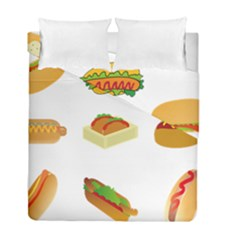 Hot Dog Buns Sauce Bread Duvet Cover Double Side (full/ Double Size) by Mariart