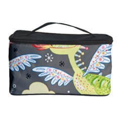 Dragonfly Animals Dragom Monster Fair Cloud Circle Polka Cosmetic Storage Case by Mariart