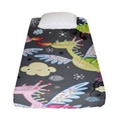 Dragonfly Animals Dragom Monster Fair Cloud Circle Polka Fitted Sheet (single Size) by Mariart