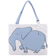 Illustrain Elephant Animals Mini Tote Bag by Mariart