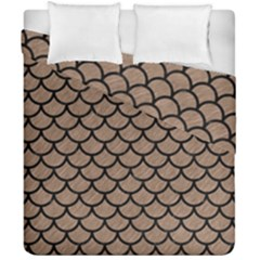 Scales1 Black Marble & Brown Colored Pencil (r) Duvet Cover Double Side (california King Size) by trendistuff