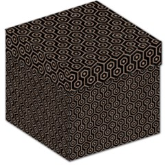 Hexagon1 Black Marble & Brown Colored Pencil Storage Stool 12  by trendistuff