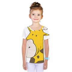 Illustrain Giraffe Face Animals Kids  One Piece Tee by Mariart