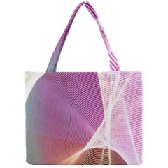 Light Means Net Pink Rainbow Waves Wave Chevron Mini Tote Bag by Mariart