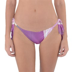 Light Means Net Pink Rainbow Waves Wave Chevron Reversible Bikini Bottom by Mariart