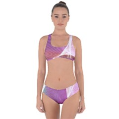 Light Means Net Pink Rainbow Waves Wave Chevron Criss Cross Bikini Set