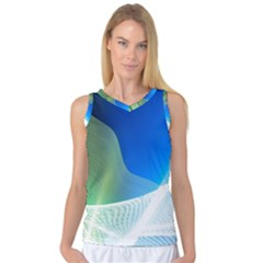 Light Means Net Pink Rainbow Waves Wave Chevron Green Blue Women s Basketball Tank Top by Mariart