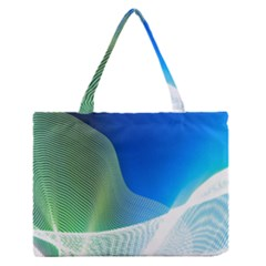 Light Means Net Pink Rainbow Waves Wave Chevron Green Blue Medium Zipper Tote Bag by Mariart