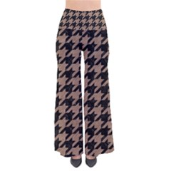 Houndstooth1 Black Marble & Brown Colored Pencil So Vintage Palazzo Pants by trendistuff
