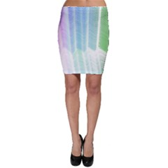 Light Means Net Pink Rainbow Waves Wave Chevron Green Bodycon Skirt