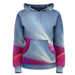 Light Means Net Pink Rainbow Waves Wave Chevron Red Women s Pullover Hoodie