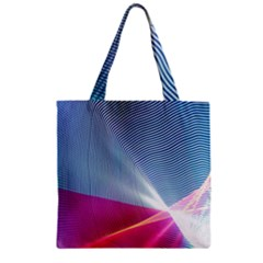 Light Means Net Pink Rainbow Waves Wave Chevron Red Zipper Grocery Tote Bag by Mariart