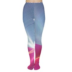 Light Means Net Pink Rainbow Waves Wave Chevron Red Women s Tights by Mariart