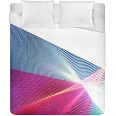 Light Means Net Pink Rainbow Waves Wave Chevron Red Duvet Cover (california King Size) by Mariart