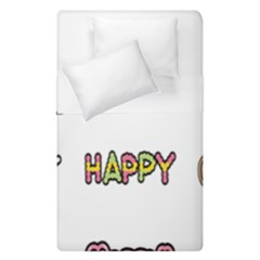 Lucky Happt Good Sign Star Duvet Cover Double Side (single Size)