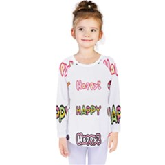 Lucky Happt Good Sign Star Kids  Long Sleeve Tee