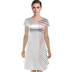 Line Wave Rainbow Cap Sleeve Nightdress by Mariart