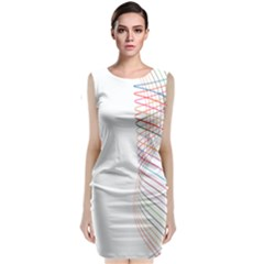 Line Wave Rainbow Classic Sleeveless Midi Dress by Mariart