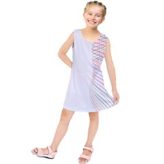 Line Wave Rainbow Kids  Tunic Dress by Mariart