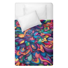 Moreau Rainbow Paint Duvet Cover Double Side (single Size) by Mariart