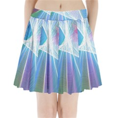 Light Means Net Pink Rainbow Waves Wave Chevron Green Blue Sky Pleated Mini Skirt