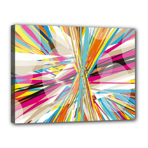 Illustration Material Collection Line Rainbow Polkadot Polka Canvas 16  x 12