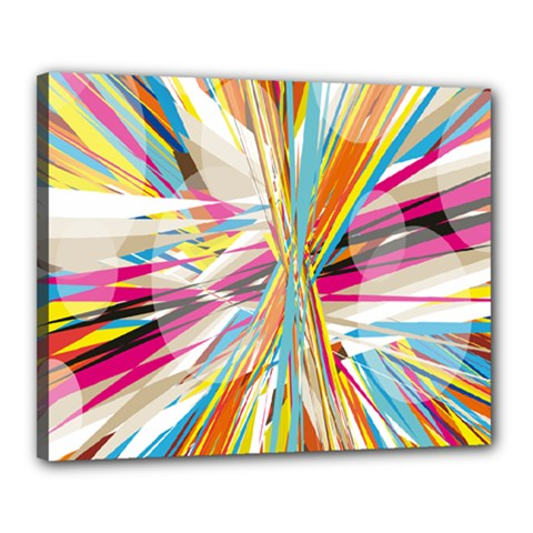Illustration Material Collection Line Rainbow Polkadot Polka Canvas 20  x 16