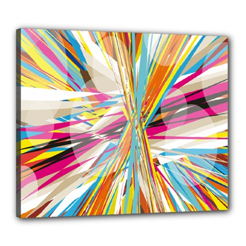 Illustration Material Collection Line Rainbow Polkadot Polka Canvas 24  x 20